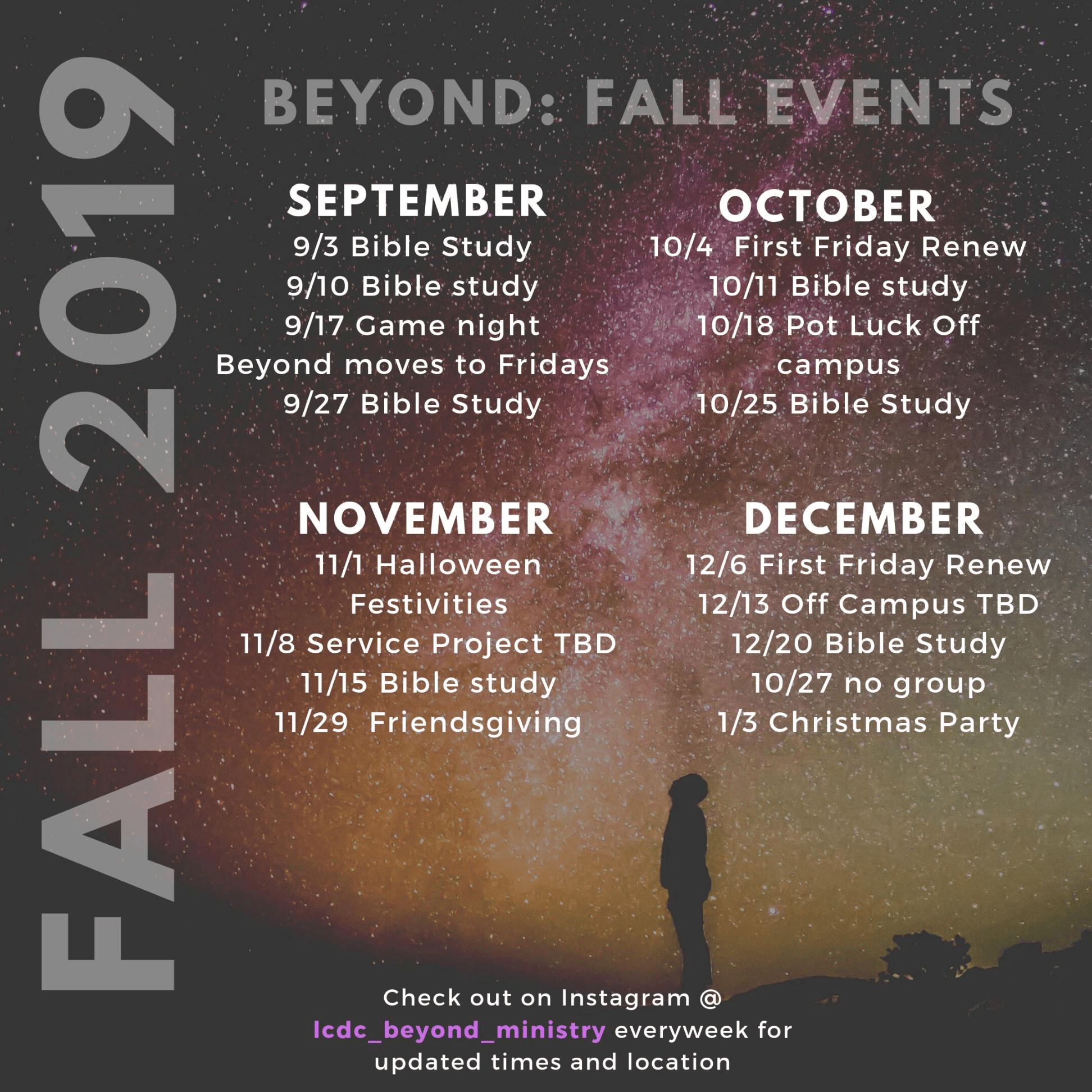 Beyond Young Adults Fall Events